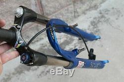 Fork MTB Rock Shox Sid Black Box Carbon 26 V-Brake 1 1/8 Blue Retro