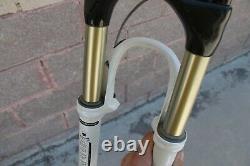 Fork MTB Rock Shox Sid Black Box Carbon 26 V-Brake 1 1/8 White Retro