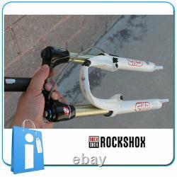 Fourche Vtt Rock Shox Sid Noir Box Carbone 26 V-Brake 1/8 Blanc Rétro