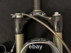 Rock Shox SID World Cup Carbon Mountain Bike Fork QR Remote Lockout 26 Wheel 26