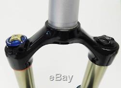 RockShox SID RLT Dual Air 26 MTB Fork 100mm w Remote, QR Tapered Black w Silver