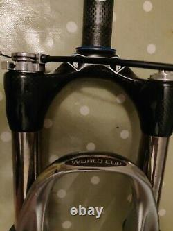 Rockshox SID World Cup 26 Lockout Black Box Carbon 100mm Retro Bike Vintage MTB