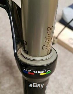 Rockshox SID XX World Cup Forks 26 100mm Travel 11/8 Carbon Steerer Black Box