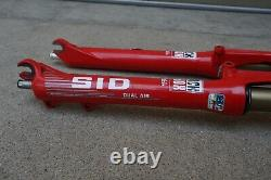 SID Rock Shox Dual Air Long Travel Red 26 Mountain Bike Shocks Vintage