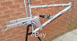 VGC Rare Retro Orange Sub 3, 18 XC mtb bike frame no 5 five, Rockshox SID