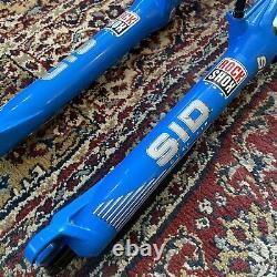 Vgc 2000 Rockshox Sid Sl Dual Air 26 1 1/8 Blue Rim/disc Brakes