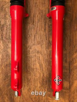 Vintage Rock Shox SID XC C3 Dual Air Fork Shock 1 1/8 Disc & Rim Brake 26 Red